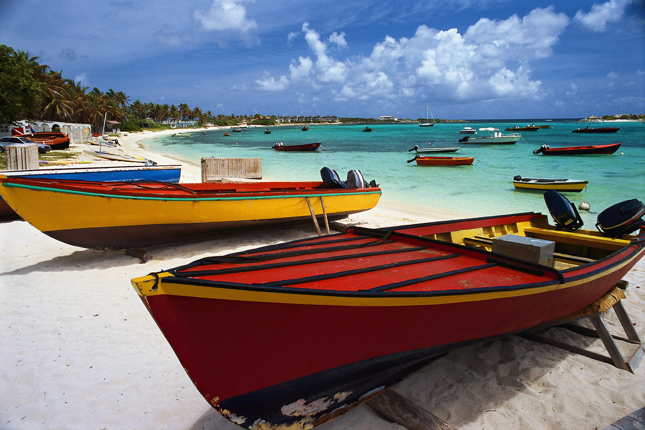 Motorboats on the Beach